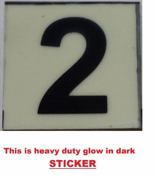 PHOTOLUMINESCENT DOOR NUMBER 2 SIGN