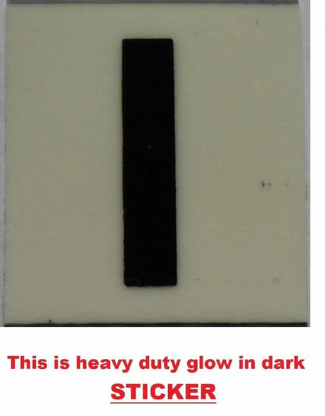 PHOTOLUMINESCENT DOOR NUMBER H SIGNAGE