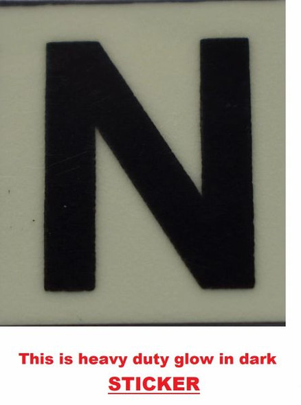 PHOTOLUMINESCENT DOOR NUMBER N SIGN