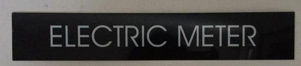 ELECTRIC METER SIGN black