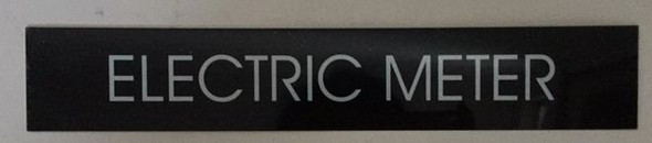 Electric Meter Sign (Black Aluminum)
