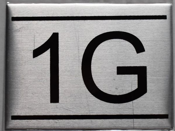 APARTMENT NUMBER SIGN 1G