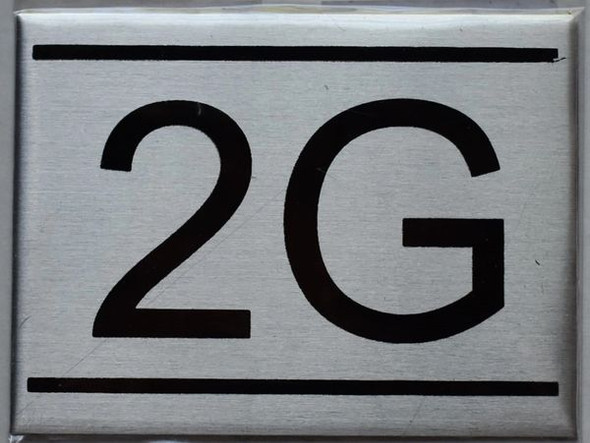APARTMENT NUMBER SIGN - 2G