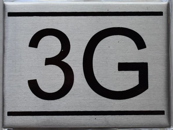 APARTMENT NUMBER SIGN - 3G