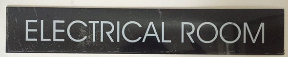 ELECTRICAL ROOM SIGN (BLACK , ALUMINUM)