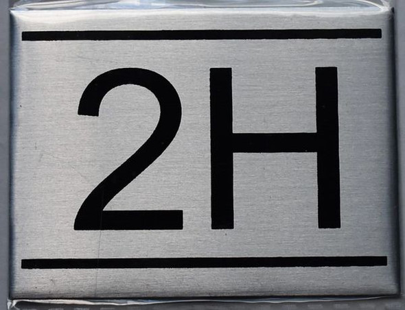 APARTMENT NUMBER SIGN - 2H