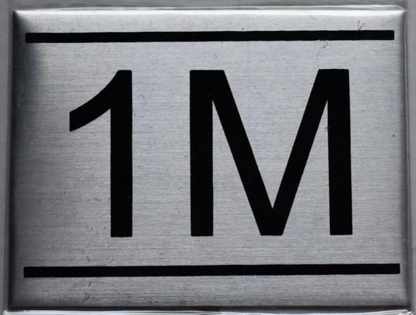 1m apartment number sign