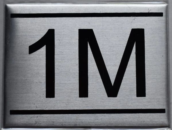 silver apartment number sign