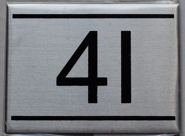 APARTMENT NUMBER SIGN - 4I