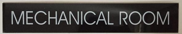 Mechanical Room Sign (Black Aluminum )