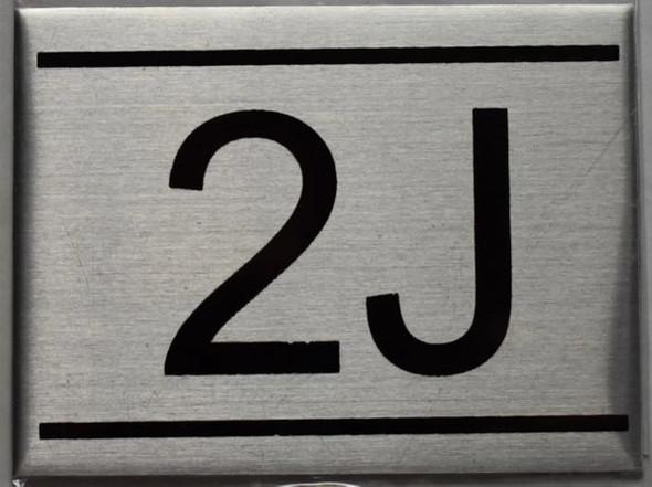 APARTMENT NUMBER SIGN - 2J