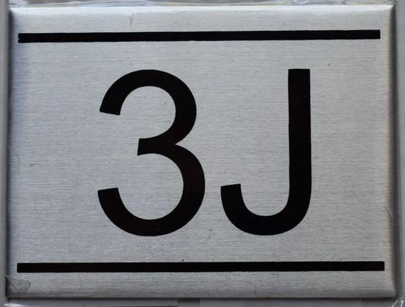 APARTMENT NUMBER SIGN - 3J