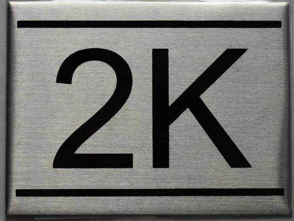 APARTMENT NUMBER SIGN - 2K