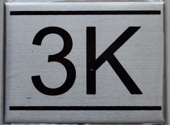 APARTMENT NUMBER SIGN - 3K