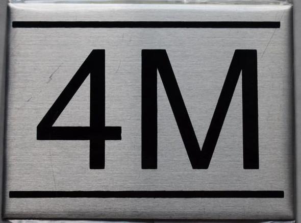 APARTMENT NUMBER SIGN - 4M