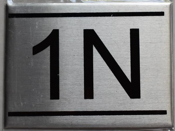 APARTMENT NUMBER SIGN - 1N