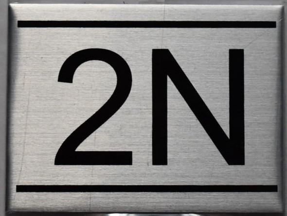 APARTMENT NUMBER SIGN - 2N