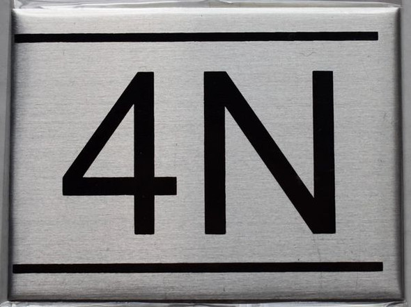 APARTMENT NUMBER SIGN - 4N