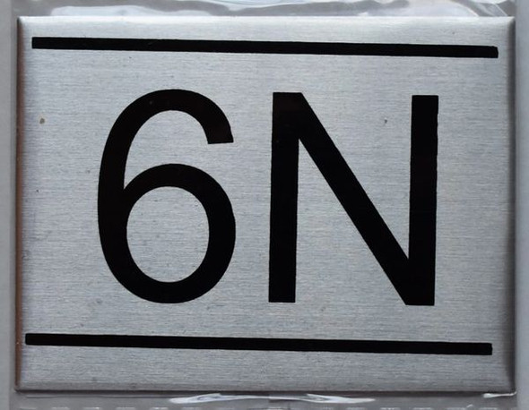 APARTMENT NUMBER SIGN - 6N