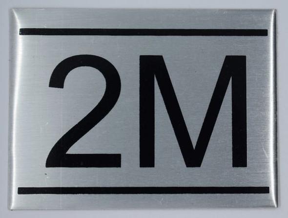 APARTMENT NUMBER SIGN - 2M