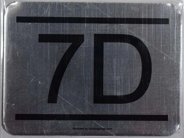 APARTMENT NUMBER   7D