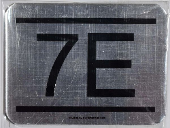 APARTMENT NUMBER SIGN– 7E