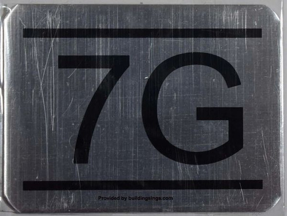 APARTMENT NUMBER SIGN  7G
