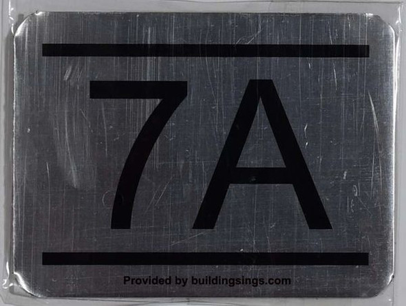 APARTMENT NUMBER SIGN 7A