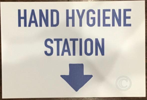 COVID19 SIGNAGE DOB Hand Hygiene station SIGN