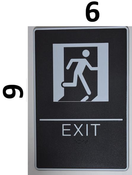 EXIT Sign- The Standard ADA line Black