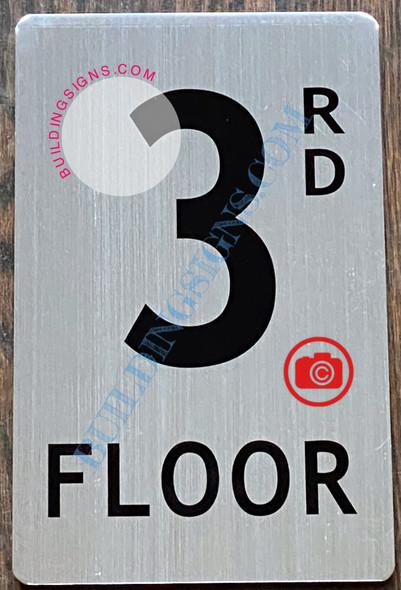 3RD FLOOR SIGN