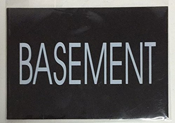BASEMENT SIGN (BLACK)