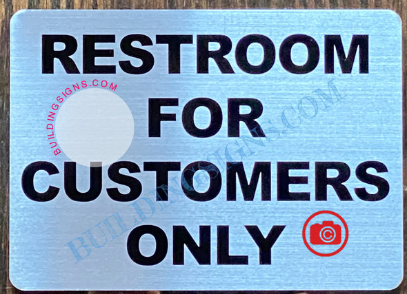RESTROOM FOR CUSTOMERS ONLY SIGN
