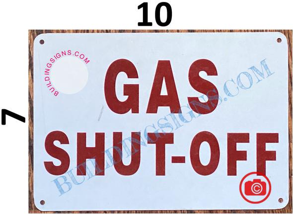 GAS SHUT OFF SIGN