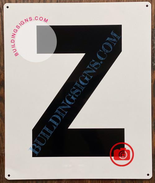 LETTER Z SIGN