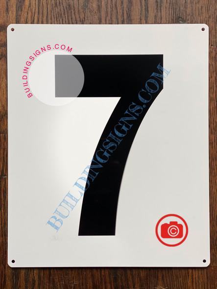 NUMBER 7 SIGN