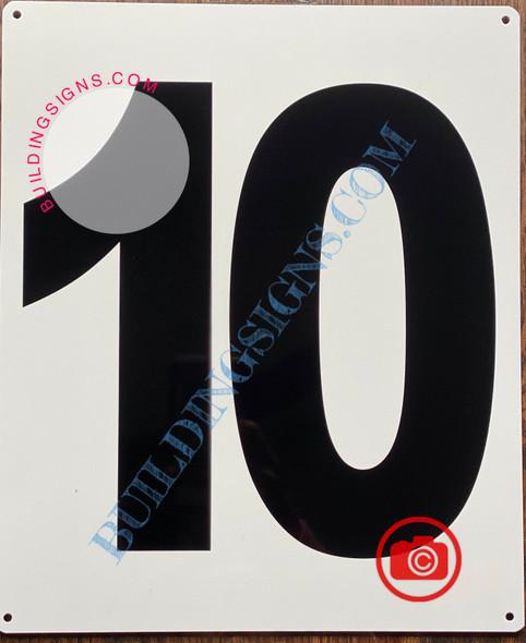 NUMBER 10 SIGN