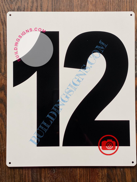 NUMBER 12 SIGN