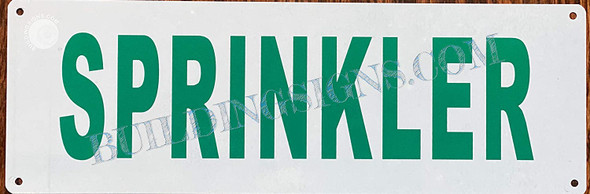 Sign Sprinkler   White