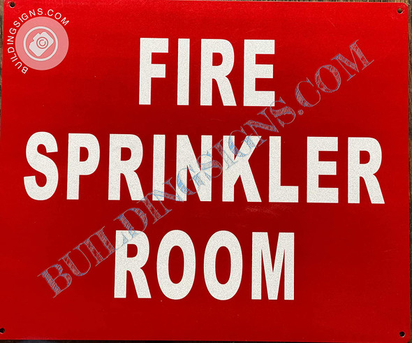 Sign Fire Sprinkler Room