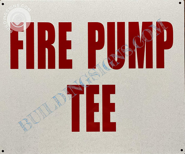 Sign Fire Pump Tee