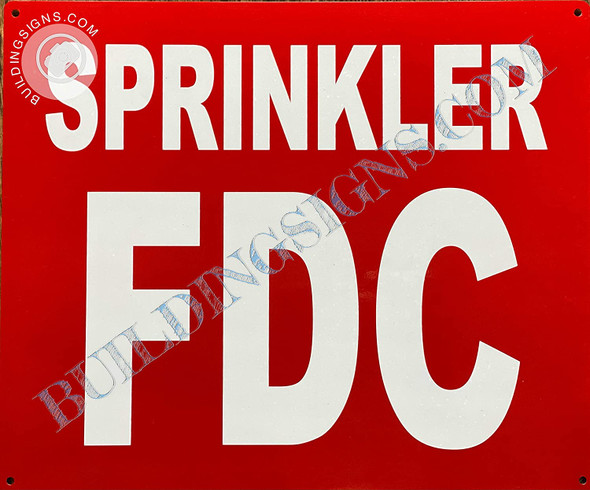 Sign Sprinkler fdc  - Sprinkler fire Department Connection