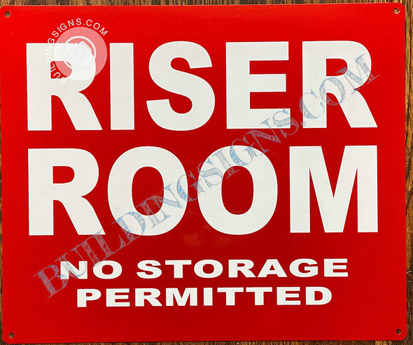 Signage Riser Room