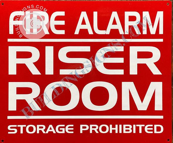 Sign FIR Alarm/Riser Room