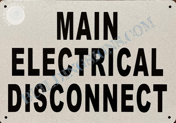 Sign Main Electrical Disconnect