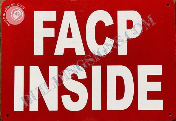 Sign FIRE Alarm Control Panel Inside  - FACP Inside