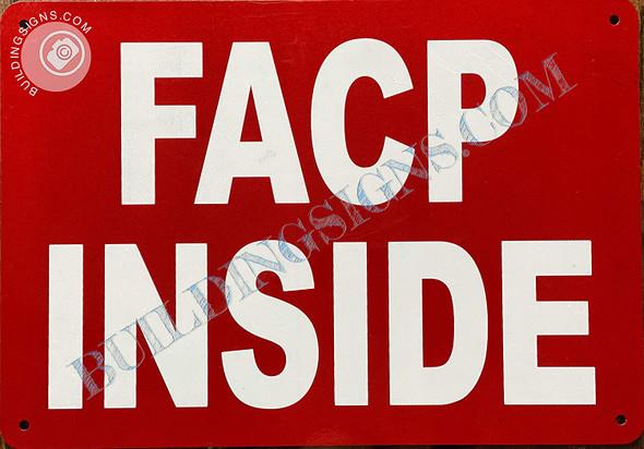 Sign F.A.C.P. Inside -FIRE Alarm Control Panel Inside