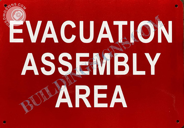 Signage Evacuation Assembly Area