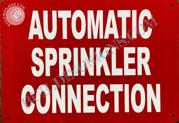 Sign Automatic Sprinkler Connection