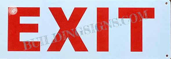 Sign EXIT  (Reflective, Aluminum)
